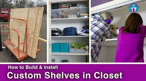 How to Install DIY Closet Shelving YouTube