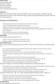 6 Elementary Teacher Resume Templates Free Download