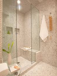 Example of a mid-sized trendy master gray tile and marble tile marble floor  and
