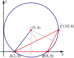 the triangle abc the circircle of triangle abc and the perpendicular bisectors of the