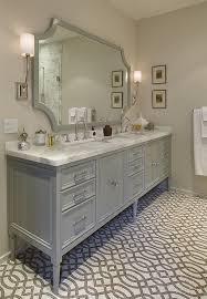 furniture style vanity. Furniturestyle Gray Vanity Trellis Tile Floor With Furniture Style