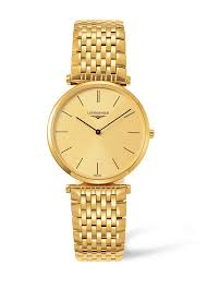longines la grande classique men s gold tone bracelet watch