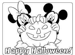 Small Picture Disney Halloween Printable Coloring Pages Inside Coloring Pages To