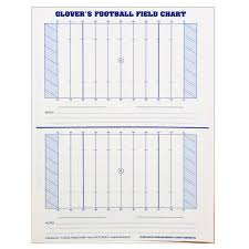 Glovers Scorebooks Football Field Charts 8 5 X 11 Amazon