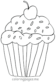 Pictures Of Cupcakes To Color Cupcake Template To Color Cupcake