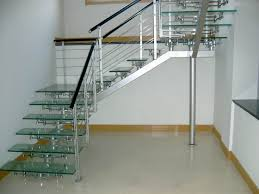 ... Exquisite Home Interior And Staircase Design Ideas Using Stainless Steel  Stair Railing : Top Notch Image ...