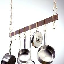 hanging pots on wall hanging pot hanger with lights kitchen pots and pans rack on wall