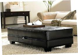 leather coffee table ottoman brilliant leather coffee table and fabulous black leather ottoman round brown leather
