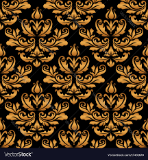 Gold Damask Background Vintage Gold Damask Pattern