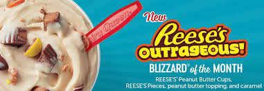 Dairy Queen Blizzard Nutrition Chart Reeses Outrageous Blizzard Is Back At Dairy Queen The