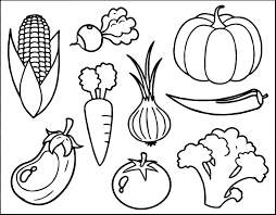 Small Picture Free Vegetable Coloring Page Wecoloringpage