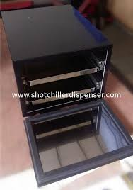 china thermoelectric cooling shot glass freezer double deck iron steel outer shell supplier