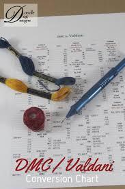 Valdani Thread Color Chart Valdani Dmc Conversion Chart Punch Needle Cross Stitch