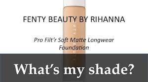 Find Your Shade W New Shades Fenty Beauty Pro Filtr Soft Matte Longwear Foundation