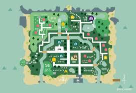あつ 森 島 レイアウト 地図