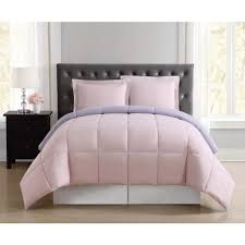 everyday blush and lavender reversible full queen comforter set