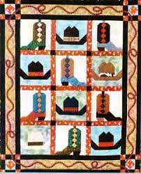Free Quilt Patterns to Print | Cowboy Boots & Hats Western Quilt ... & Cowboy Boots & Hats Quilt Pattern by Chickadee Charms. Now that's a Cowboy  Quilt! Adamdwight.com
