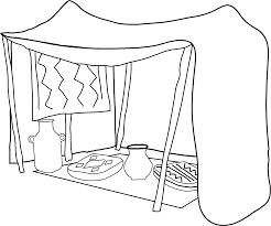 Small Picture Coloring Page Tent