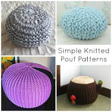 Knitted Pouf Pattern Cool Decorating