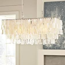 capiz shell chandeliers capiz shell chandelier from west elm the rectangular shape is just