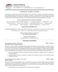 Free Elementary Teacher Resume Templates