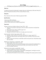 Nanny Resume Examples Best Cover Letters Images On Resume Tips ...