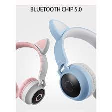 Tai nghe đèn LED không dây cho điện thoại di động Tai nghe Bluetooth 5.0 Tai  nghe âm thanh nổi Tai nghe cho con gái Con gái PC Tai mèo giá cạnh