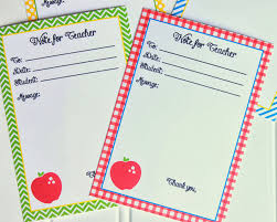 Printable Note Cards Back To School Free Printable Note For Teacher Cards