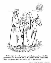 Jesus Youth Coloring Pages Jesus Grows And Learns 3 Bible Printables
