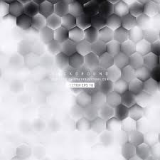 Abstract Black And White Hexagon Pattern Background Design White