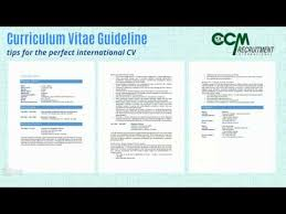 Recruitment Cv Writing Guidelines For Your C V Ccm Recruitment