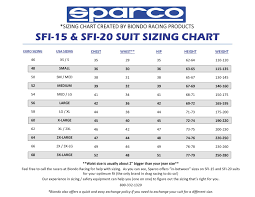 Up To Date Sparco Suit Sizing Chart Sparco Kart Suit Sizing