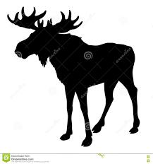 silhouette of moose stock photo  image