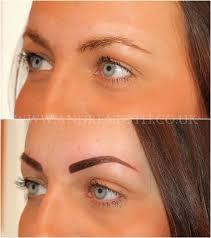 powder eyebrow semi permanent makeup