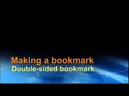 Making A Double Sided Bookmark Using Word Youtube