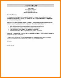 6 Cover Letter Sample For Nursing Job Hostess Resume