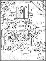 Nativity Color Page Nativity Coloring Pages Free Christian Scene