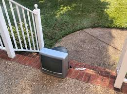 Old Style Tvs Placed On Porches In Virginia Neighborhood By