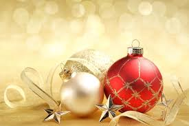 New Year Christmas New Year Christmas Winter Ball Red Gold White