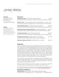 Resume Bio Example Portfolio Biography Sample Valid Examples Earpod
