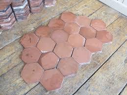 terracotta hexagon quarry floor tiles