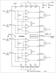 4 × 25 w btl quad car radio power amplifier wiring circuit 4 × 25 w btl quad car radio power amplifier
