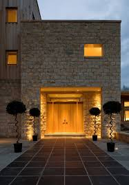 entrance lighting ideas. entrance lighting ideas entry contemporary with stone facade outdoor flat roof