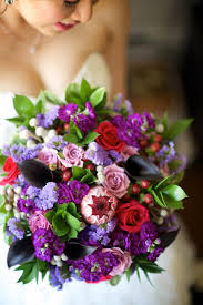 ... Vibrant Bouquet by Dandie Andie Floral Designs and Boakview Photography  Purple Red ...