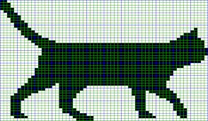 Cat Knitting Chart Black Cat Knitting Chart