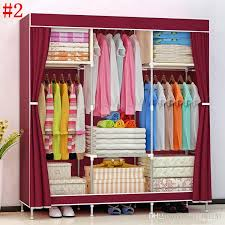 2019 hhaini new huge wooden portable closet 4 rods bedroom wardrobe storage rack kit long hanging space from a871461251 45 07 dhgate com