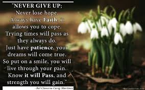 Have Faith And Patience Quotes Never Give Up Never Lose Hope Always Have Faith It Allows You Dogtrainingobedienceschool Com