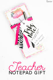 teacher gifts diy notepad supplies