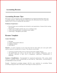 Fresh Accounting Experience Resume Format Mailing Format