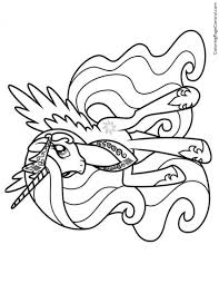Small Picture My Little Pony Princess Celestia 02 Coloring Page Coloring